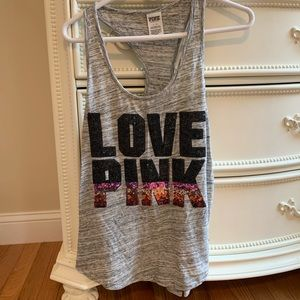 "Vs pink ""love pink"" tank top"